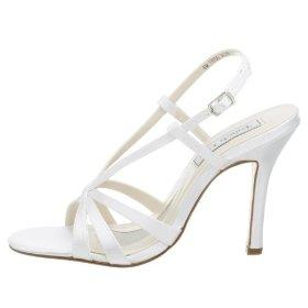 Cheap Women's White Strappy Dress Shoes
