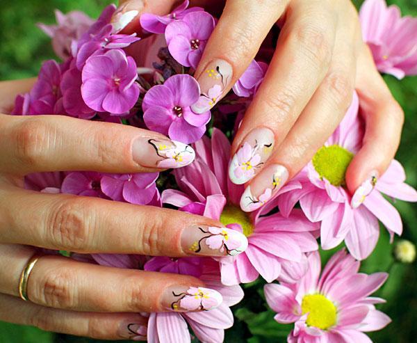Смотреть рисунки на ногтях цветы дизайн для ногтей