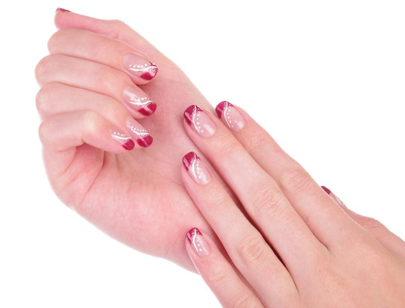 Nail Art On French Tips Nails Gallery