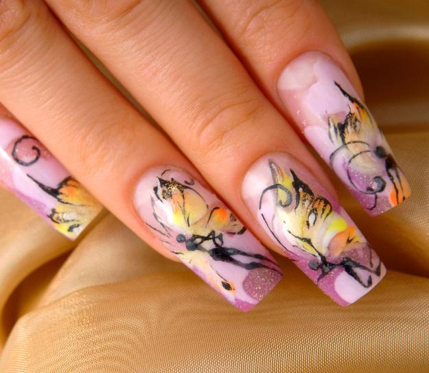 butterfly fairy nails