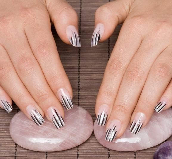 cool striped nails