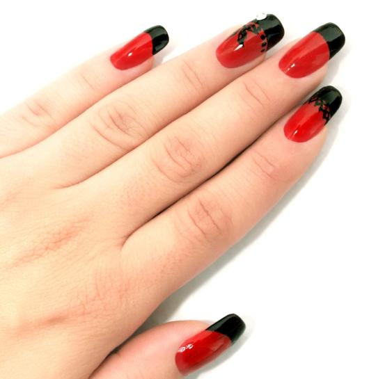 Sharp nails designs red