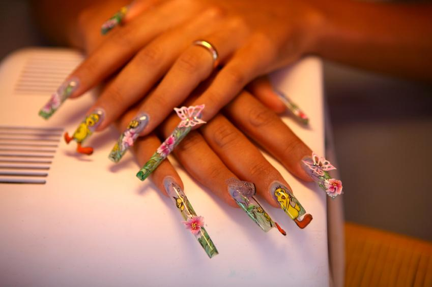 Nails with 3d objects