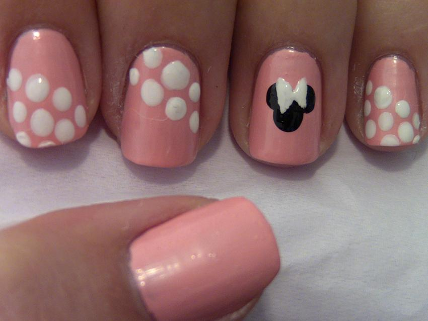 Pink Minnie Mouse Nail Art - Minnie And Mickey Mouse Inspired Nail Art LoveToKnow