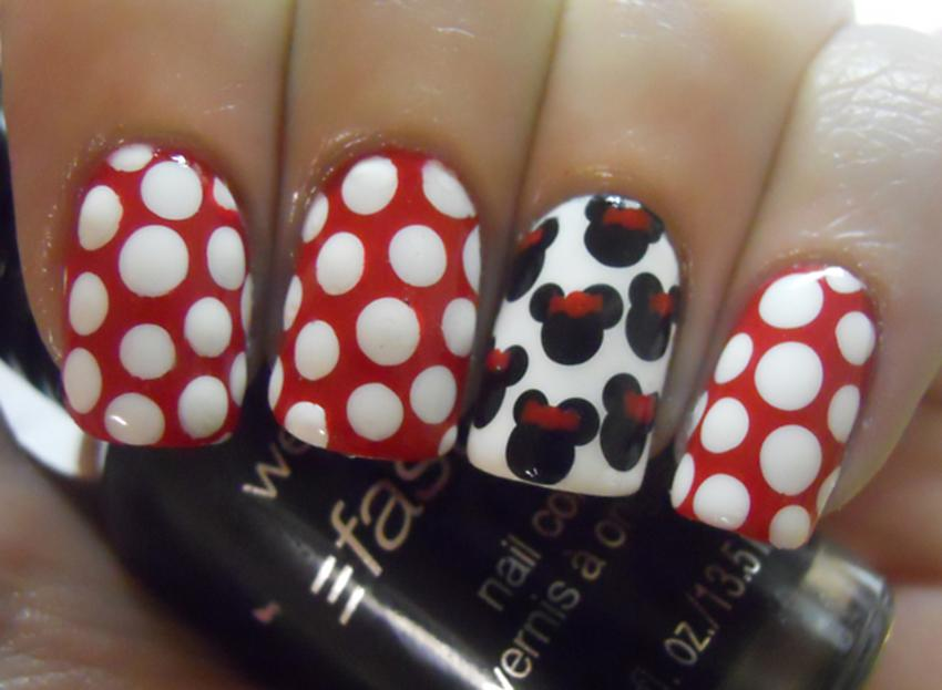 Minnie Mouse Nail Art - Minnie And Mickey Mouse Inspired Nail Art LoveToKnow