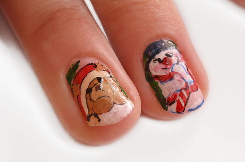 Christmas nail art pictures lovetoknow christmas character designs prinsesfo Choice Image
