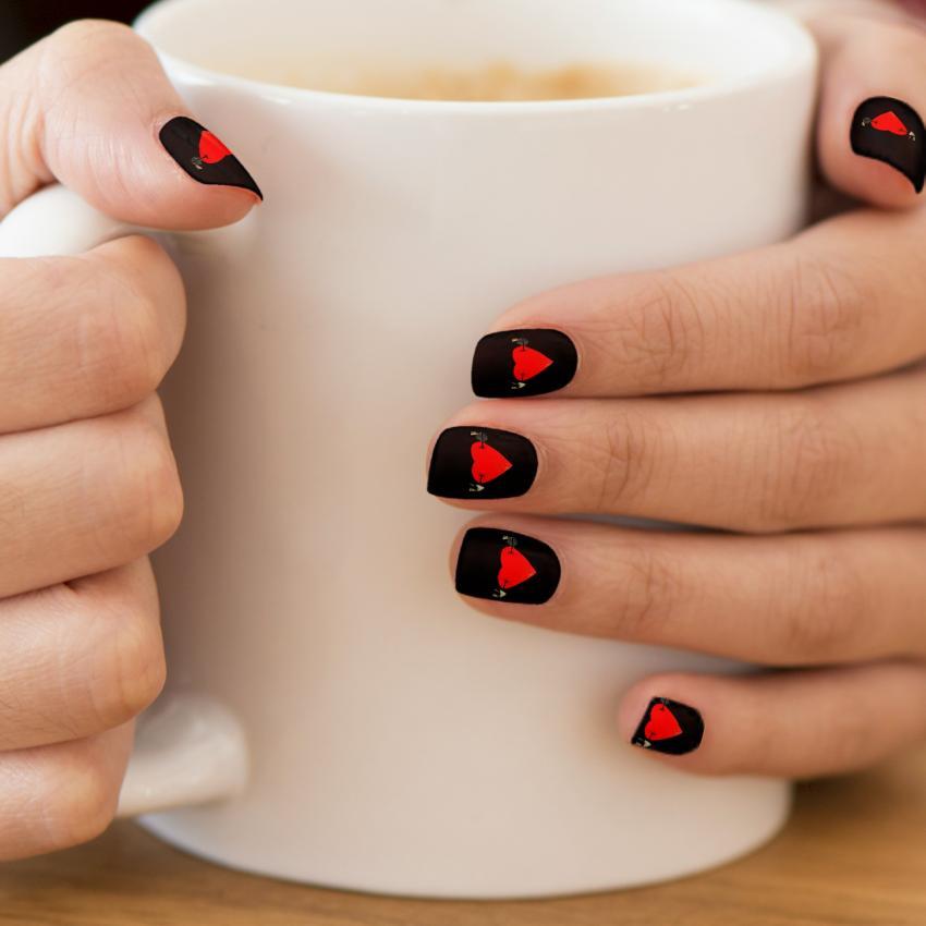 Valentines Nail Art Ideas Lovetoknow Heart Nails Prinsesfo Gallery