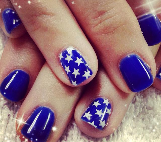 Blue with White Stars