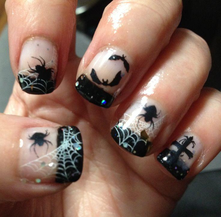 Halloween nails lovetoknow bats and spiders prinsesfo Gallery