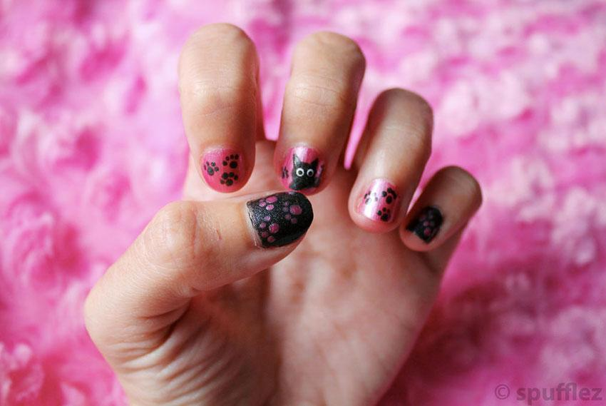 Cat inspired nails