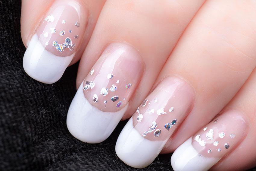 White Tinsel Nails