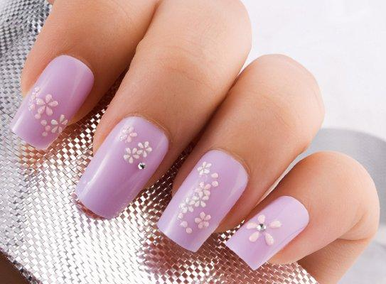 Prom nails lovetoknow flower nail designs prinsesfo Gallery
