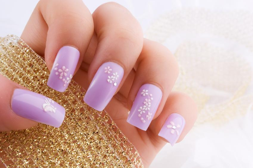 Pale lavender nails
