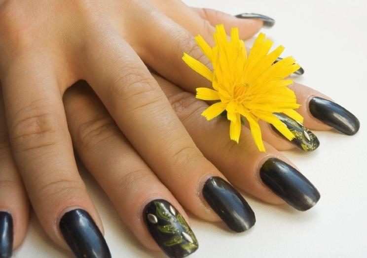 Black colored nails