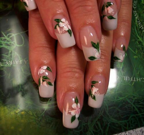 Pink hibiscus nail art - Pictures Of Nail Designs With Flowers LoveToKnow
