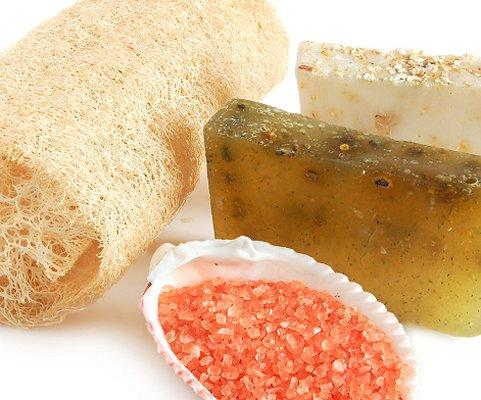 Items used to exfoliate