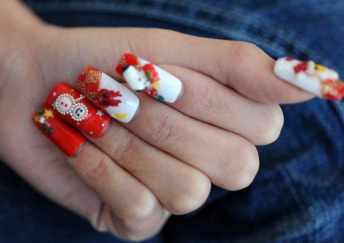 Christmas Theme Nails