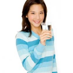 woman drining water
