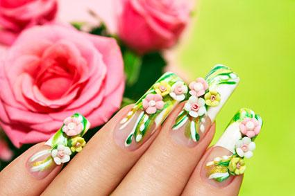 3D Flower Fingernails
