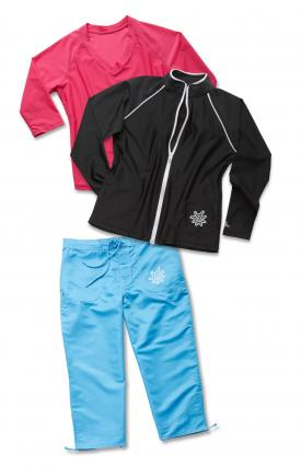 UV Skinz Women's Jacket, V-Neck and Capris