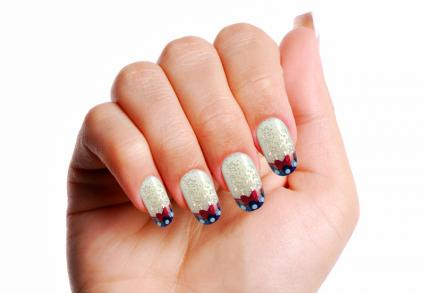 Patriotic dots and glitter