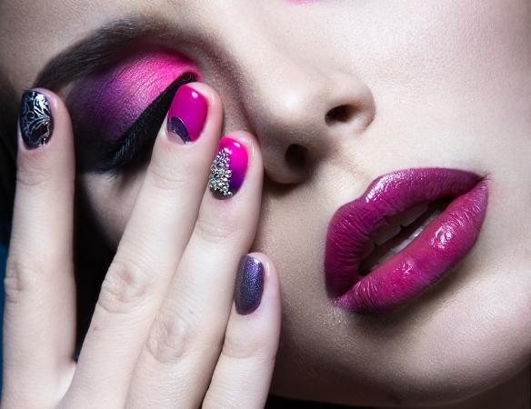 crazy purple manicure