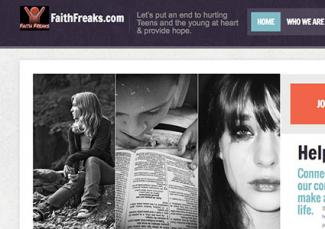 Screenshot of FaithFreaks website