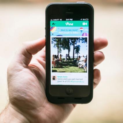 iPhone with vine app