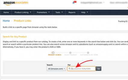 Amazon Associates product links page