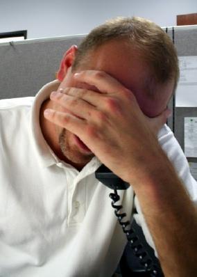 Man dealing with stress