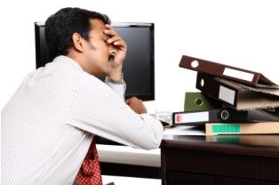 Businessman experiencing burnout