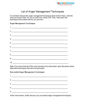 Printables Anger Management Worksheets free anger worksheets list of management techniques