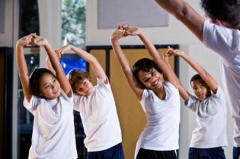 Children stretching