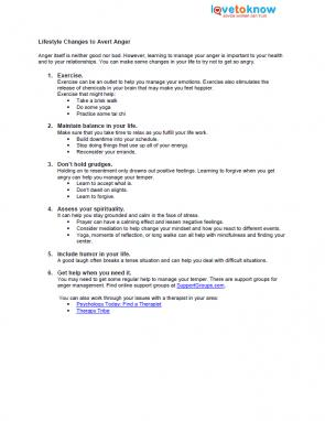 Anger Management Fact Sheets