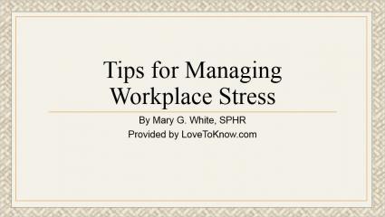 Workplace Stress Presentation