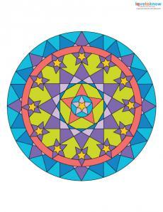 Free Mandala Designs to Print 3 color