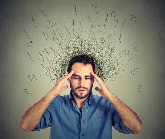 Understanding a stressed man