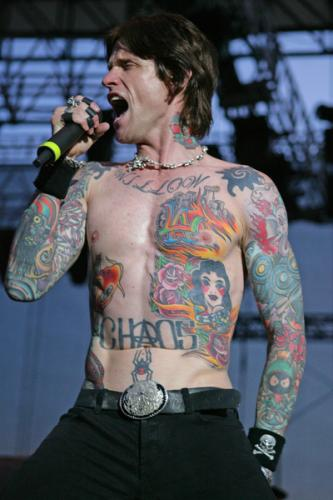 Looks like Josh Todd is well on his way to a full tattoo shirt.