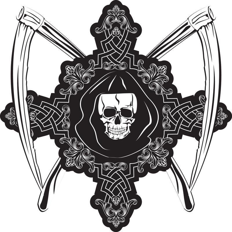 Tattoo Drawings of Crosses [Slideshow] Skull And Cross Drawing