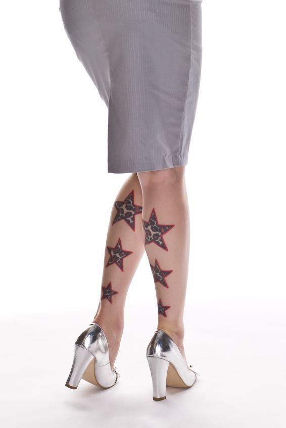Leg tattoos slideshow for Star tattoos on leg