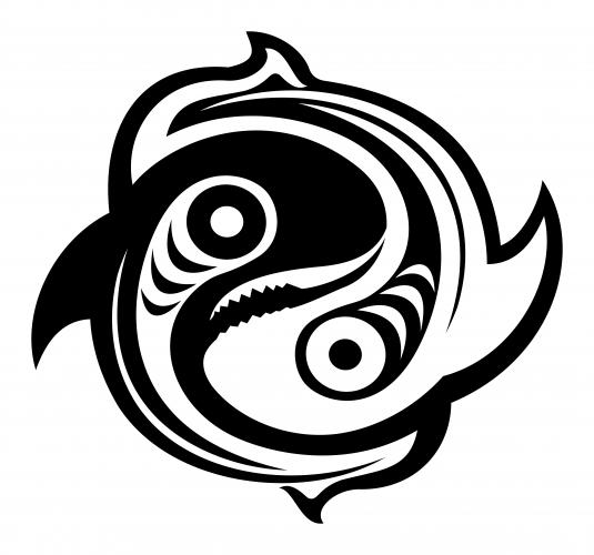 Ying yang butterfly for Yin yang fish tattoo