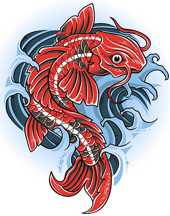 Koi tattoo gallery slideshow for Koi fish design