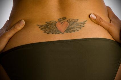 angel wing tattoos. Black Bedroom Furniture Sets. Home Design Ideas