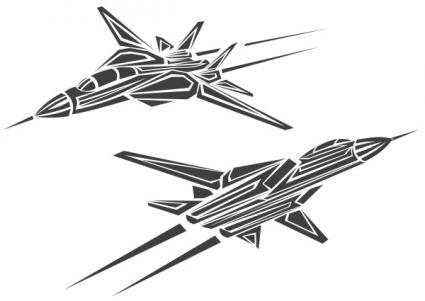 Fighter Jet Tattoo Art