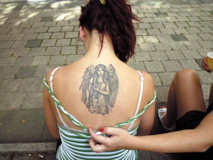 Upper Arm Angel Tattoos