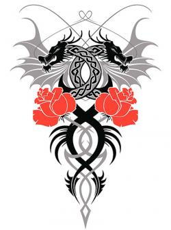 celtic dragons tattoo