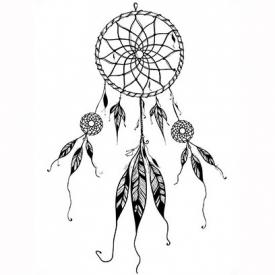 Consisting of a loop and a woven net, a dreamcatcher resembles a ...