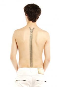 Back zipper tattoo
