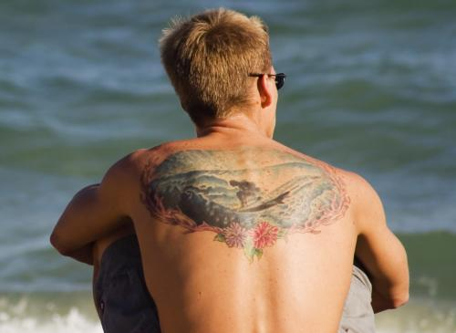 surfer tattoo