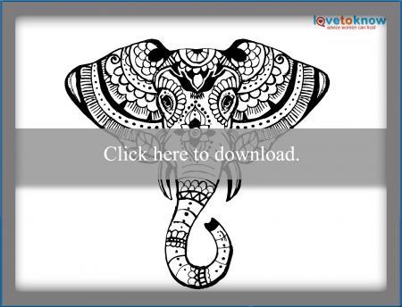 Henna elephant design